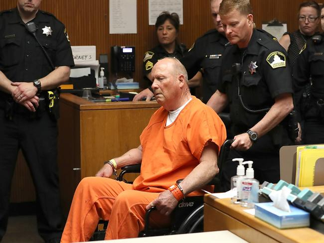 """Joseph James DeAngelo, the suspected """"Golden State Killer"""", appears in court for his arraignment on April 27 in Sacramento, California. Picture: Getty/AFP"""