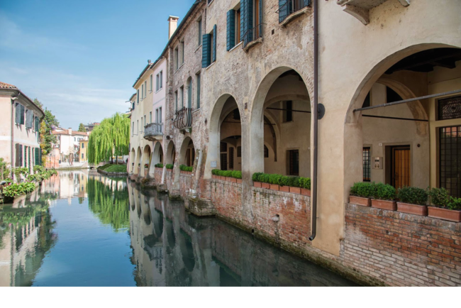 The beautiful canals of the sordid Italian town of Treviso.