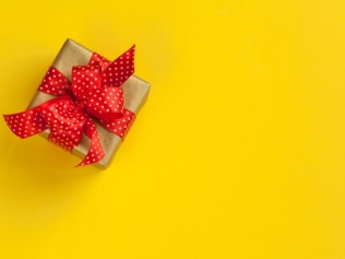Well, it's certainly not your typical present. Image: iStock.