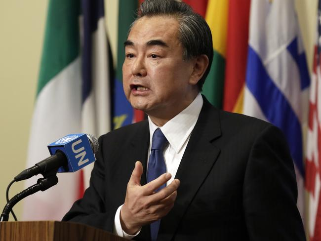 """China's Foreign Minister Wang Yi said dialogue and negotiations on North Korea are """"the only right choice""""."""