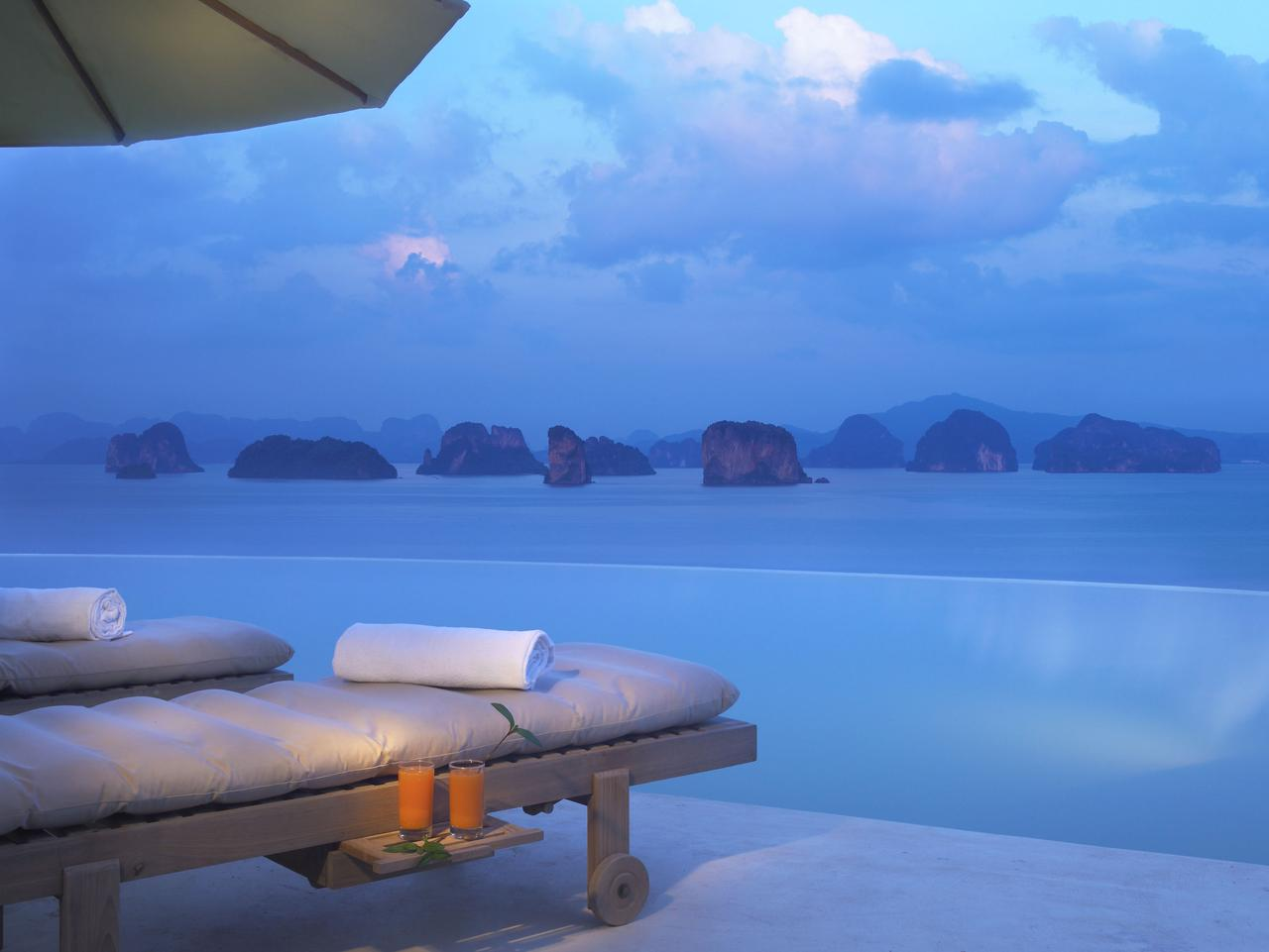 Looking out over the limestone islands from Six Senses Hideaway, Yao Noi on Phuket's Phang Nga Bay.