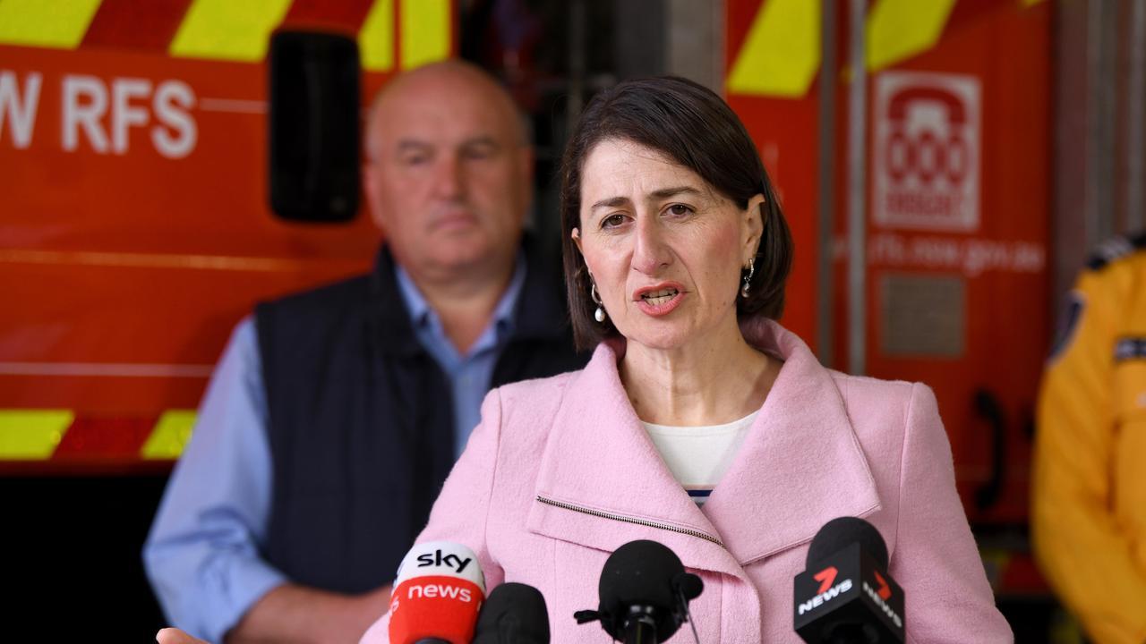 NSW Premier Gladys Berejiklian speaks to the media. Picture: NCA NewsWire/Bianca De Marchi