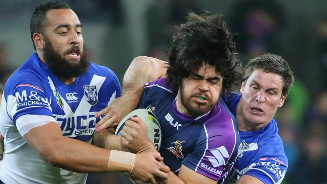 The Melbourne Storm were unable to break down the Bulldogs defence.