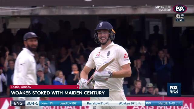 Woakes stoked with century