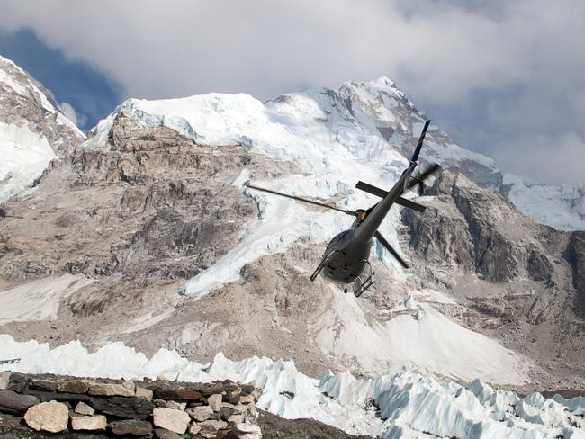 EVEREST BASE CAMP, NEPAL  Glaciers, valleys, and villages, oh my! A ride to Everest Base Camp features views of all of those things, plus of one more: the highest mountain in the world, Mount Everest. Flight experiences here vary, but most take off from Kathmandu, fly over Sherpa communities, forests and ice falls before hovering over the Himalayas to eventually land at Kalapathar or Everest Base Camp. Most tours are four hours.