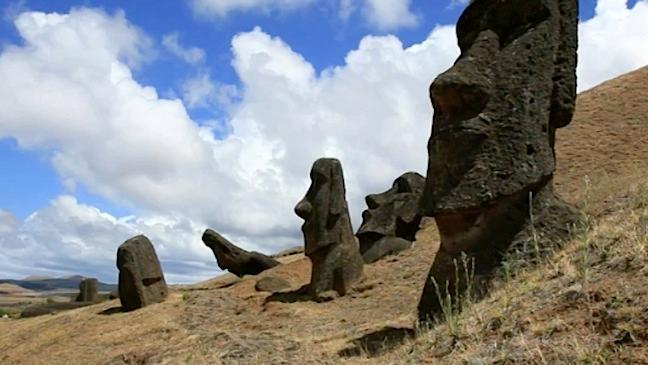 The Moai statues of Easter Island