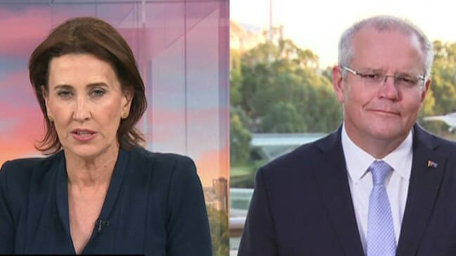 ABC News host Virginia Trioli clashed with the Prime Minister Scott Morrison