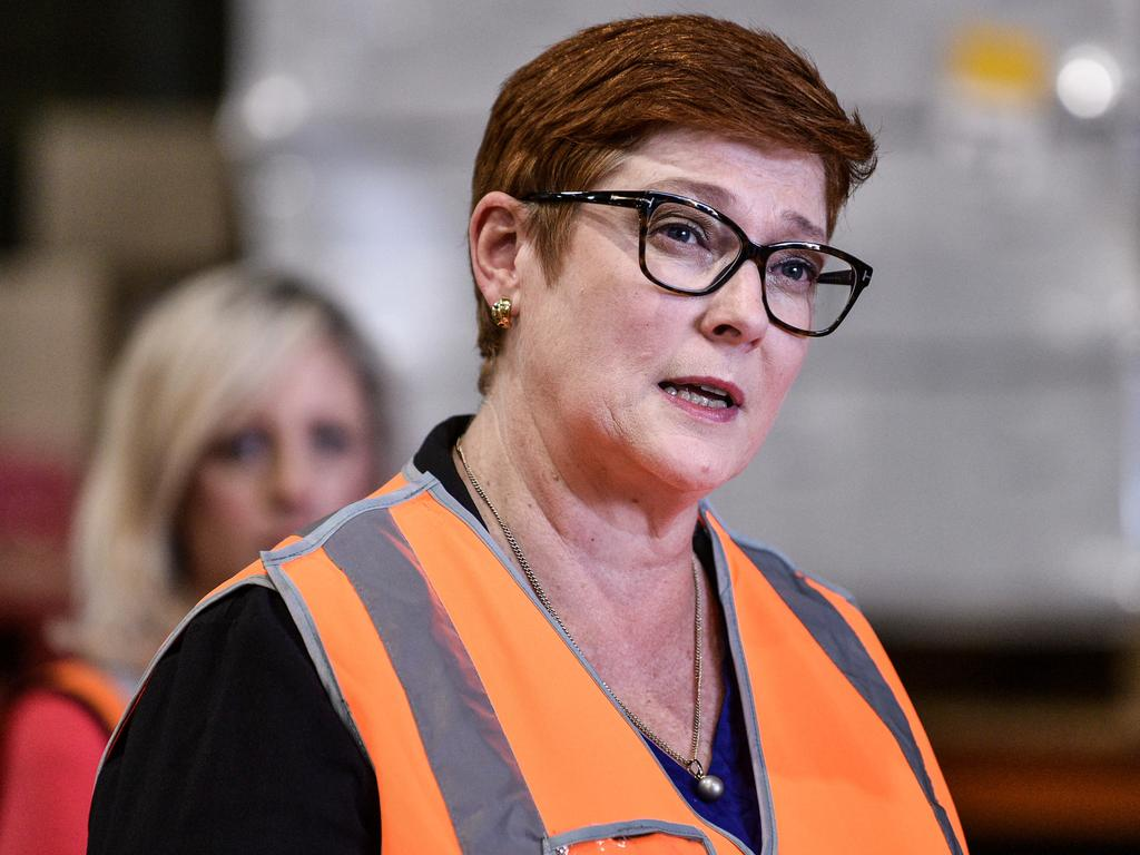 Australia's Foreign Affairs Minister Marise Payne has condemned the escalating violence. Picture: NCA NewsWire/Flavio Brancaleone