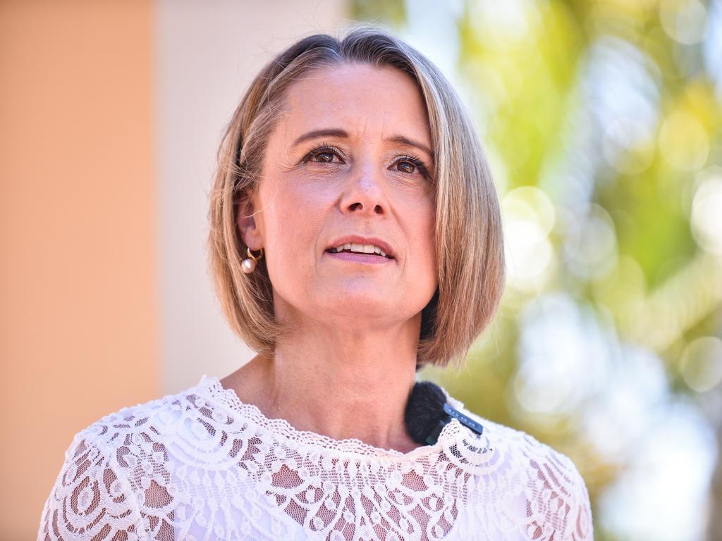 SYDNEY, AUSTRALIA - NewsWire Photos , September 11, 2021: Deputy Labor Leader Kristina Keneally speaks at a press conference in west Sydney.  Picture: NCA NewsWire / Flavio Brancaleone