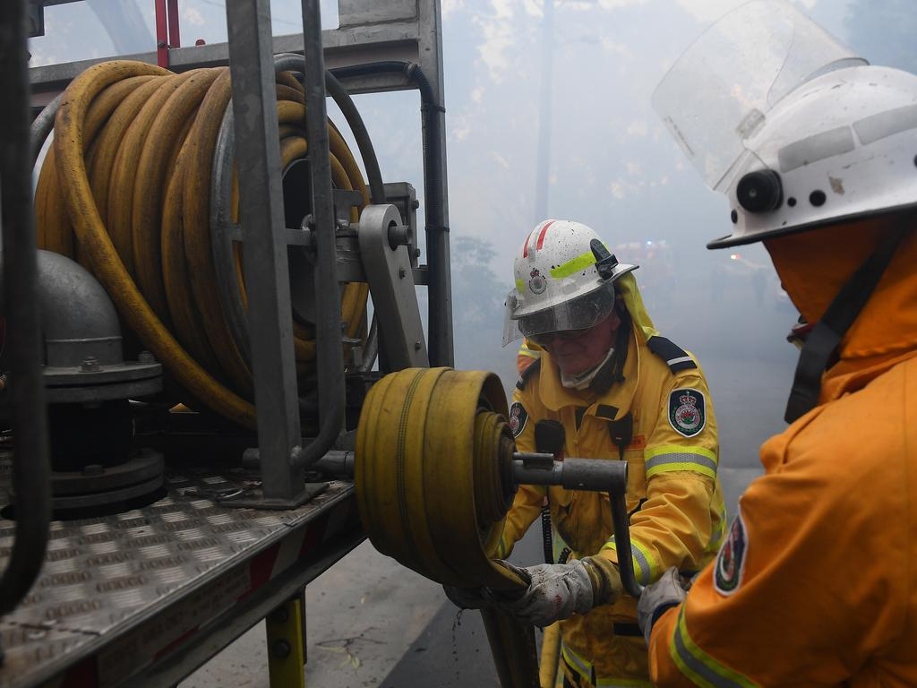 """NSW Rural Fire Service said they are un """"uncharted territory"""" with the flames. Picture: AAP Image/Dan Himbrechts"""
