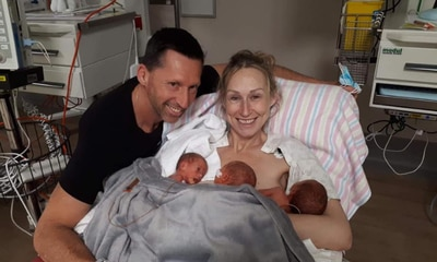 'My miracle triplets after four miscarriages'