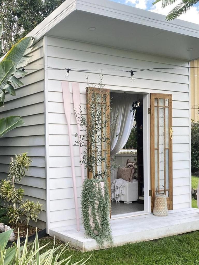 Lesa Lambert's hobby hut on the Gold Coast.