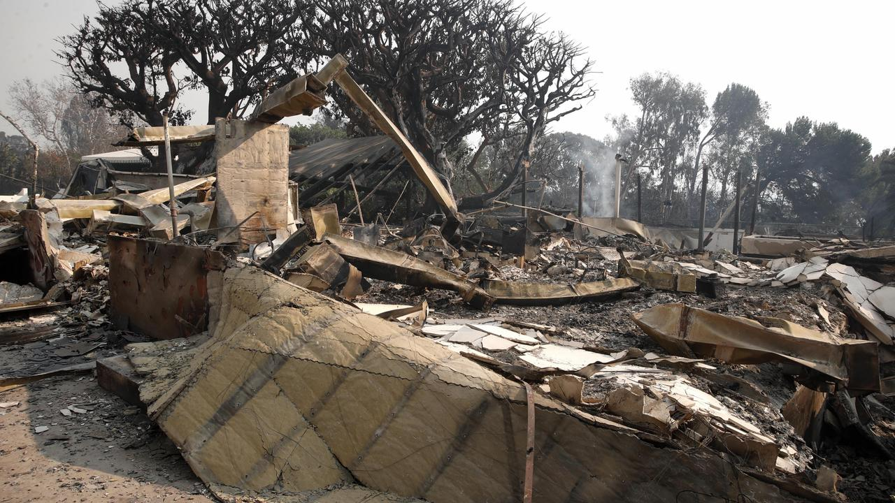 The devastation on Thicke's property. Picture: EPA/Mike Nelson