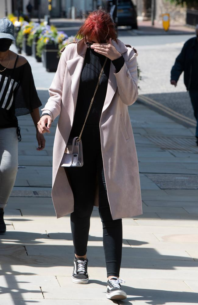 Cordice pictured outside court during her trial. Picture: Hyde News & Pictures Ltd