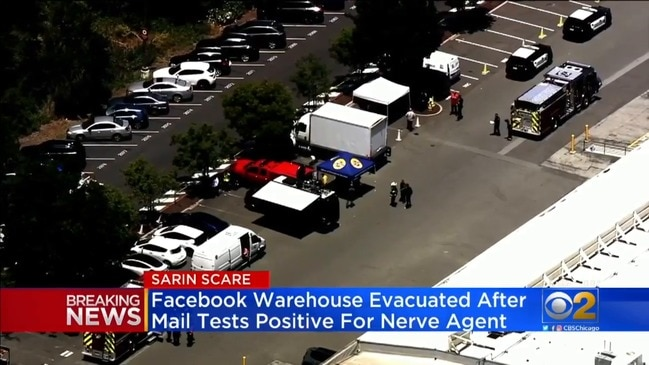 Deadly nerve agent detected in Facebook's California mail room (CBS Chicago)