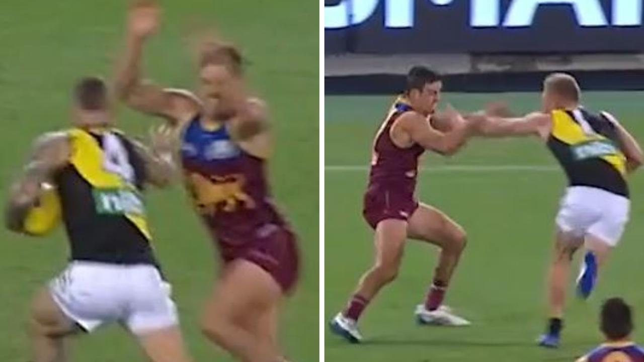 Jarryd Lyons had a clear tactic to stop Richmond using the Don't Argue on Friday night.