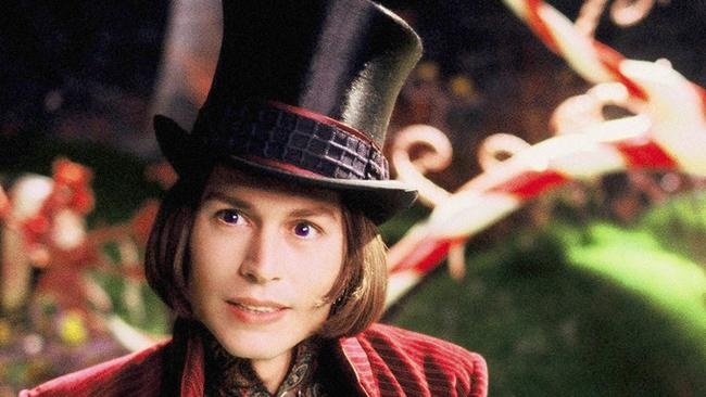 Johnny Depp as Willy Wonka: Gene Wilder was not a fan. Picture: AP/Warner Bros Pictures/Peter Mountain
