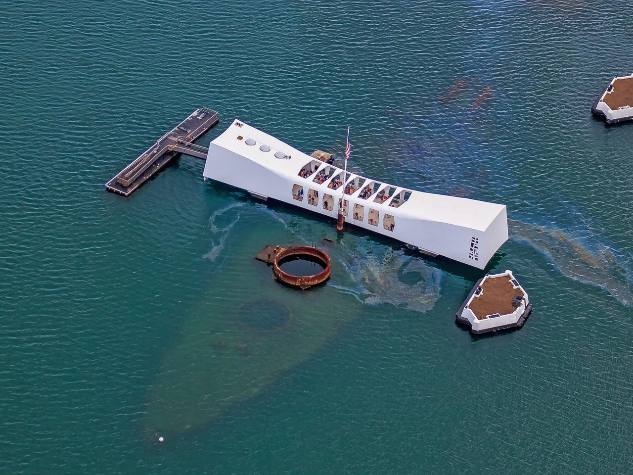 USS Arizona Memorial in Pearl Harbor Honolulu Hawaii