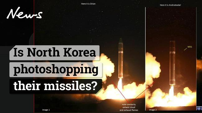 Is North Korea photoshopping their missiles?