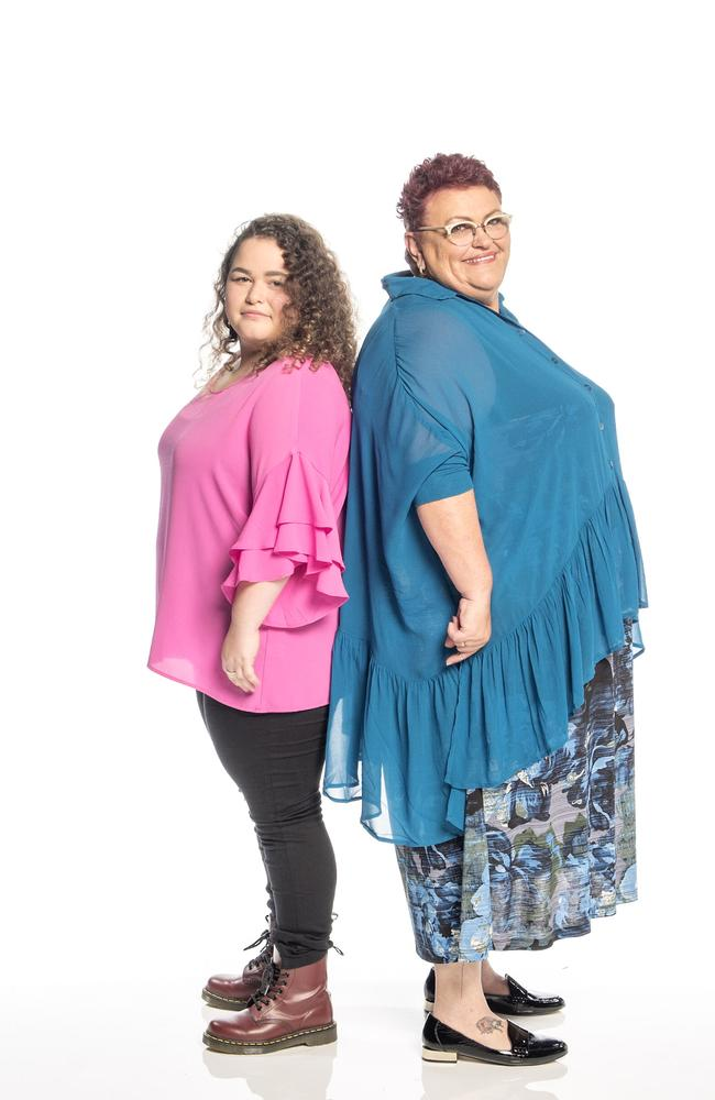 Amelia (left) and Brenda (right) pledged to lose 100kg together.