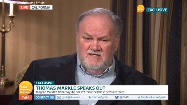 Meghan Markle's Dad isn't 'buying' that she's faced racism (GMB)