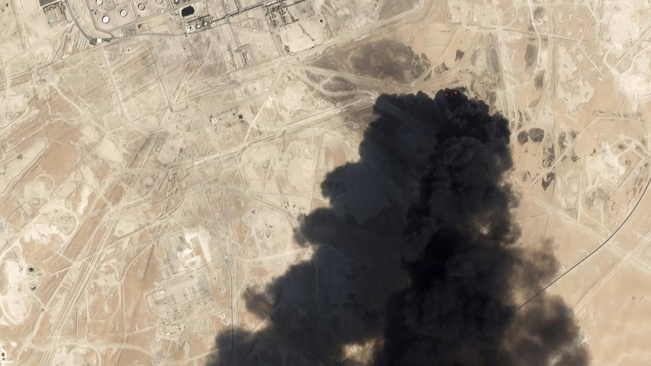 The US has blamed the attack on Iran. Picture: Planet Labs Inc via AP, File
