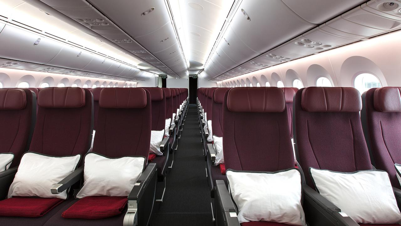On-board Qantas' new Dreamliner. Picture: AAP