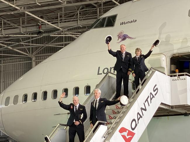 """8. In command of today's final flight, the QF747, is Sharelle Quinn, the airline's first female captain. When Quinn took up the role in 1992, there were only 18 female pilots out of 900 or so males. """"[The 747] has been a wonderful part of our history, a truly groundbreaking aircraft, and while we are sad to see our last one go, it's time to hand over to the next generation of aircraft that are a lot more efficient,"""" Quinn said."""