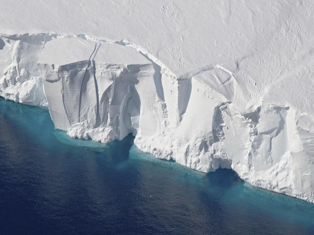 NASA's new study shows that Antarctica's glaciers aren't just melting around the edges. Warm water is melting them from beneath, speeding up the rate of sea level rise. Picture: NASA