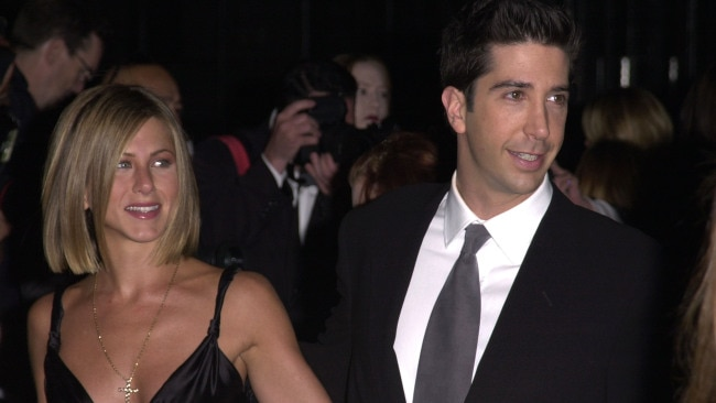 Jennifer Aniston and David Schwimmer are seen during The 27th Annual People's Choice Awards at Pasadena Civic Auditorium in Pasadena, California in 2001. Photo: J. Vespa/WireImage