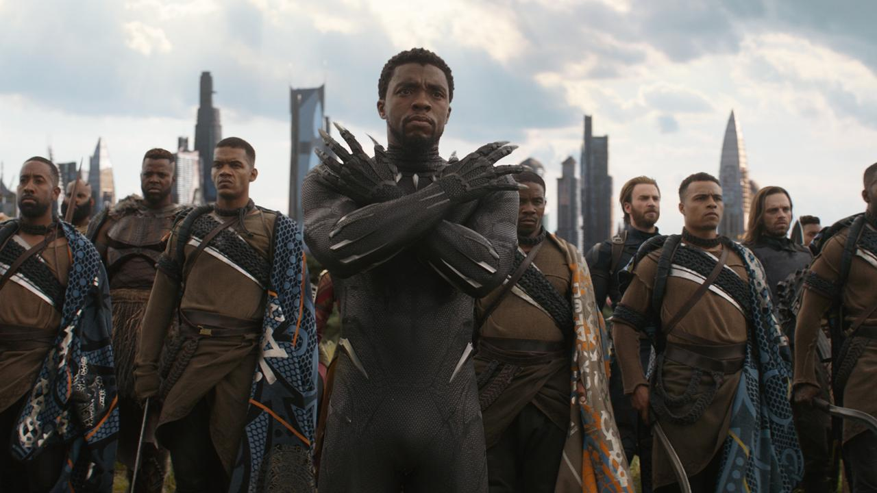 Boseman (centre, in Black Panther) was convinced he could beat cancer and return for Black Panther 2.