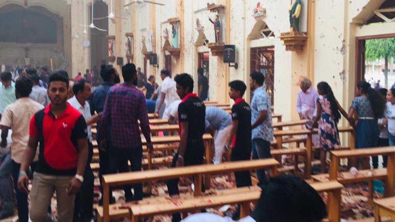 One of the Sri Lankan churches hit on Sunday. Picture: Facebook/Sebastian Church.