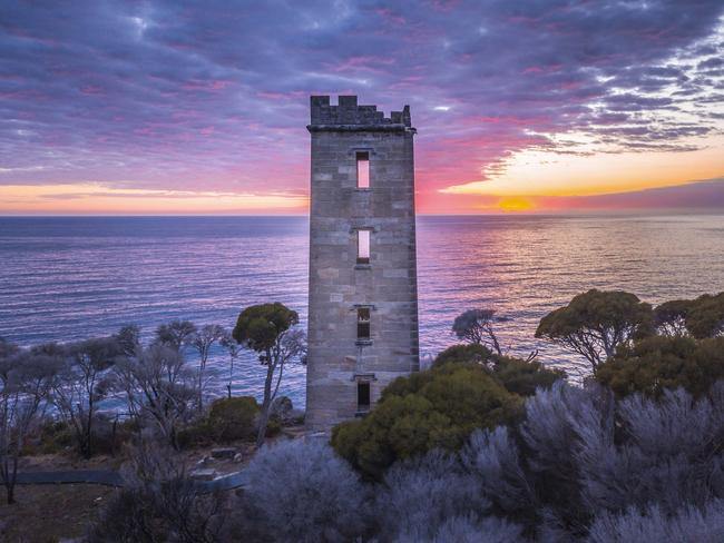 BOYD TOWER, RED POINT IN BEN BOYD NATIONAL PARK, EDROM:Originally a vantage point for whalers to spot their prey, the spot where this 19th century tower still stands today offers amazing sea views. Picture: Destination NSW