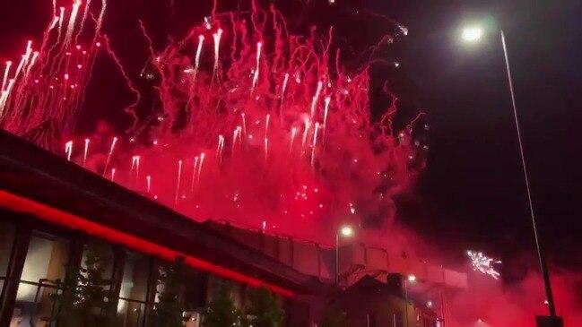 Liverpool Fans Watch Anfield Fireworks as Club Lifts Premier League Trophy