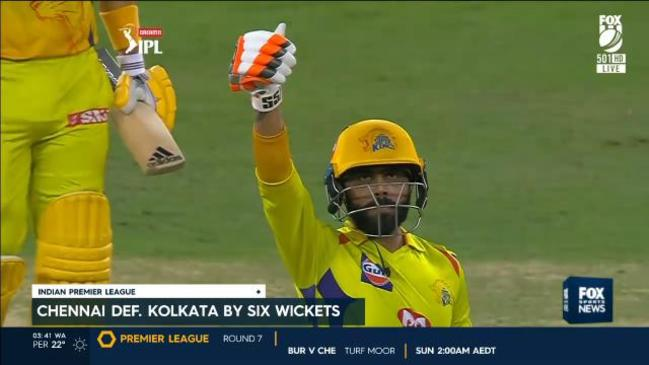 Jadeja belts 2 SIXES off the remaining balls to win ...