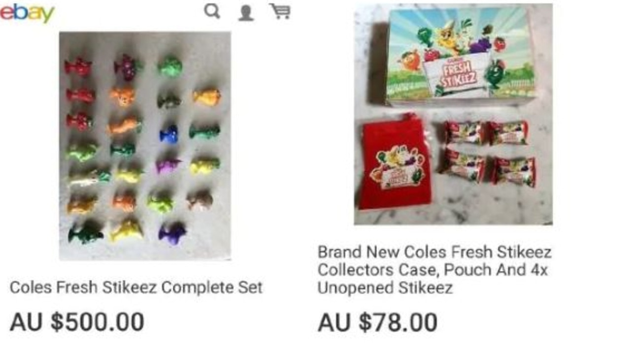 Stikeez are being sold on eBay for outrageous prices. Picture: eBay