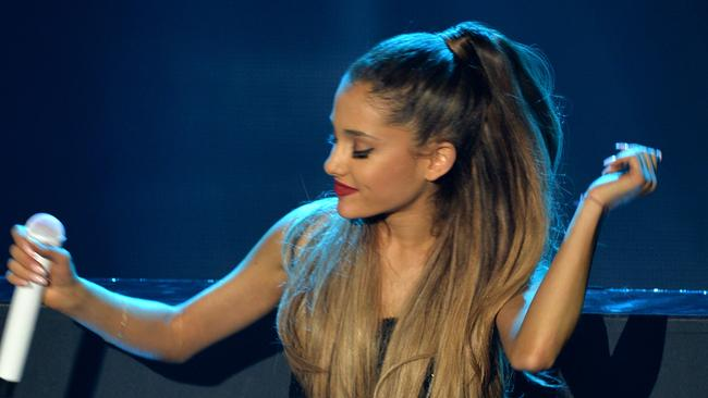 To the left, to the left ... Ariana Grande prefers her close-ups from the left. Picture: Getty Images