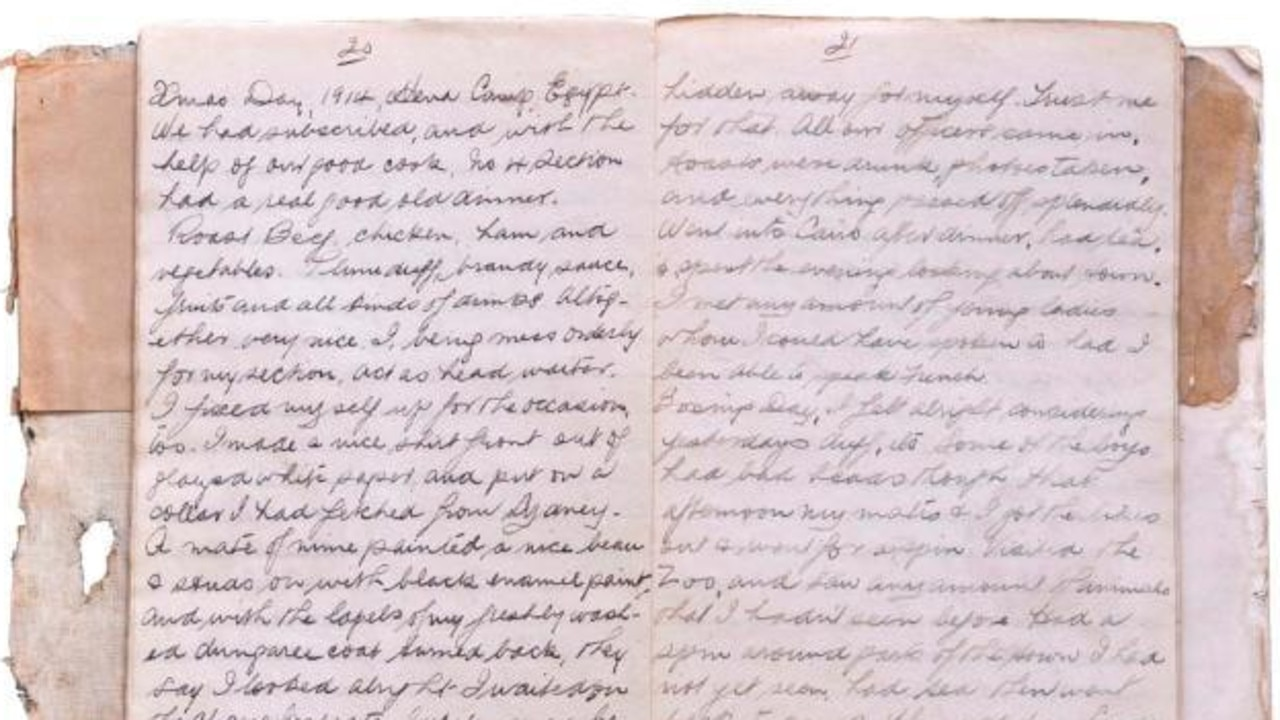 Philp Owen Ayton's diary. Picture: supplied