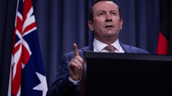 West Australian Premier Mark McGowan said the state's safety was the number one priority. Photo: Matt Jelonek/Getty Images