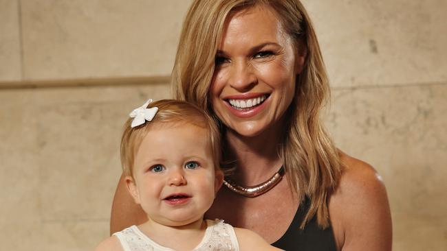 Sonia Kruger with her daughter Maggie, who was born through IVF using a donated egg from a younger woman.