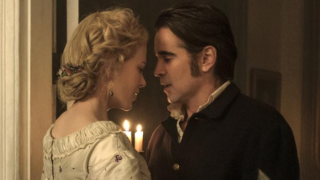 Sizzling chemistry between Nicole Kidman and Colin Farrell. (Ben Rothstein/Focus Features via AP)