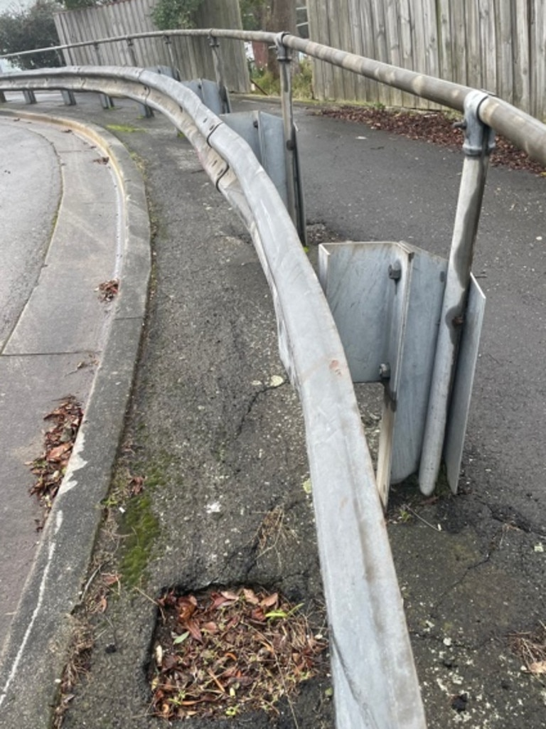 These handrails are also within the boundary.