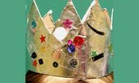Craft a silver foil crown