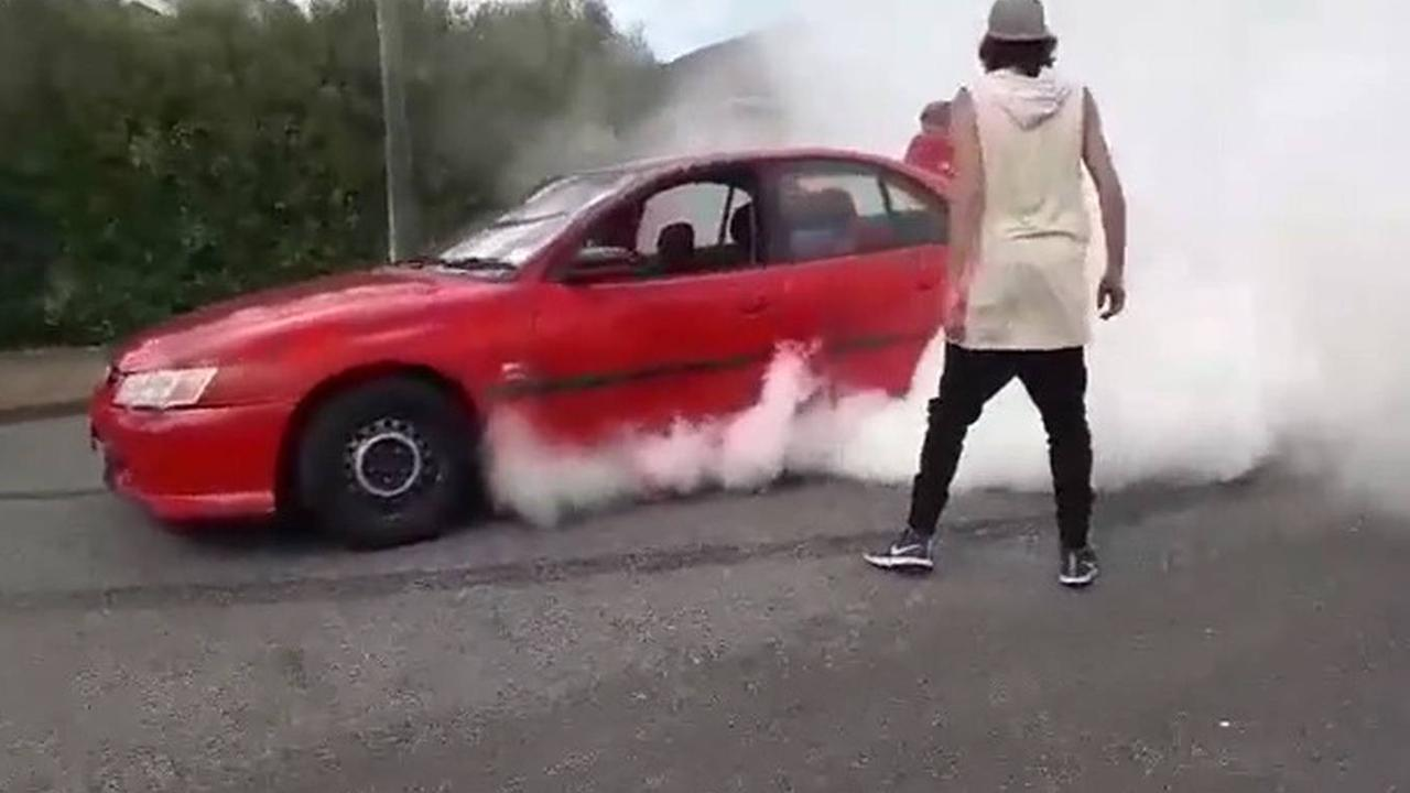 The mum performed a burnout. Picture: New Zealand Herald