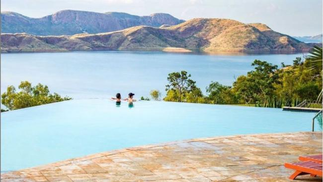 1/11Lake Argyle Resort & Caravan Park, WAIf ever there was a spot to be seen in your swimmers, this is it: a wet-edge infinity pool capturing panoramic views over the craggy masses of the Carr Boyd Ranges in the East Kimberley. Presiding over Lake Argyle – a freshwater lake around 18 times the size of Sydney Harbour – the pool and spa at the Lake Argyle Caravan Park has one of Australia's most spectacular vantage points and you'll pay just $10 for a day pass, unless you're staying the night.