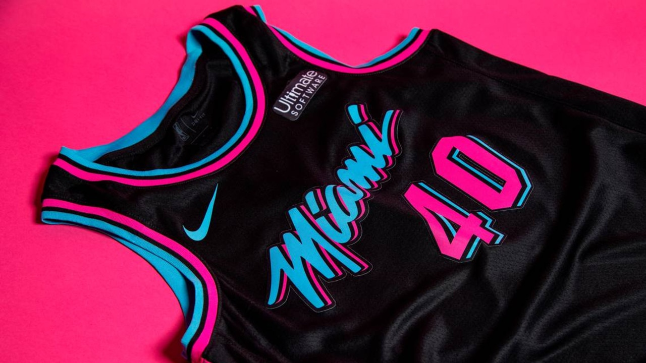 The 'Vice Nights' Miami Heat jerseys.