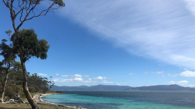 The rugged UNESCO-listed World Heritage Site of Maria Island.
