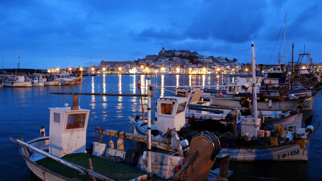 ESCAPE: IBIZA .. Amanda Woods story .. View of the city from the fisherman's harbour. Picture: Supplied