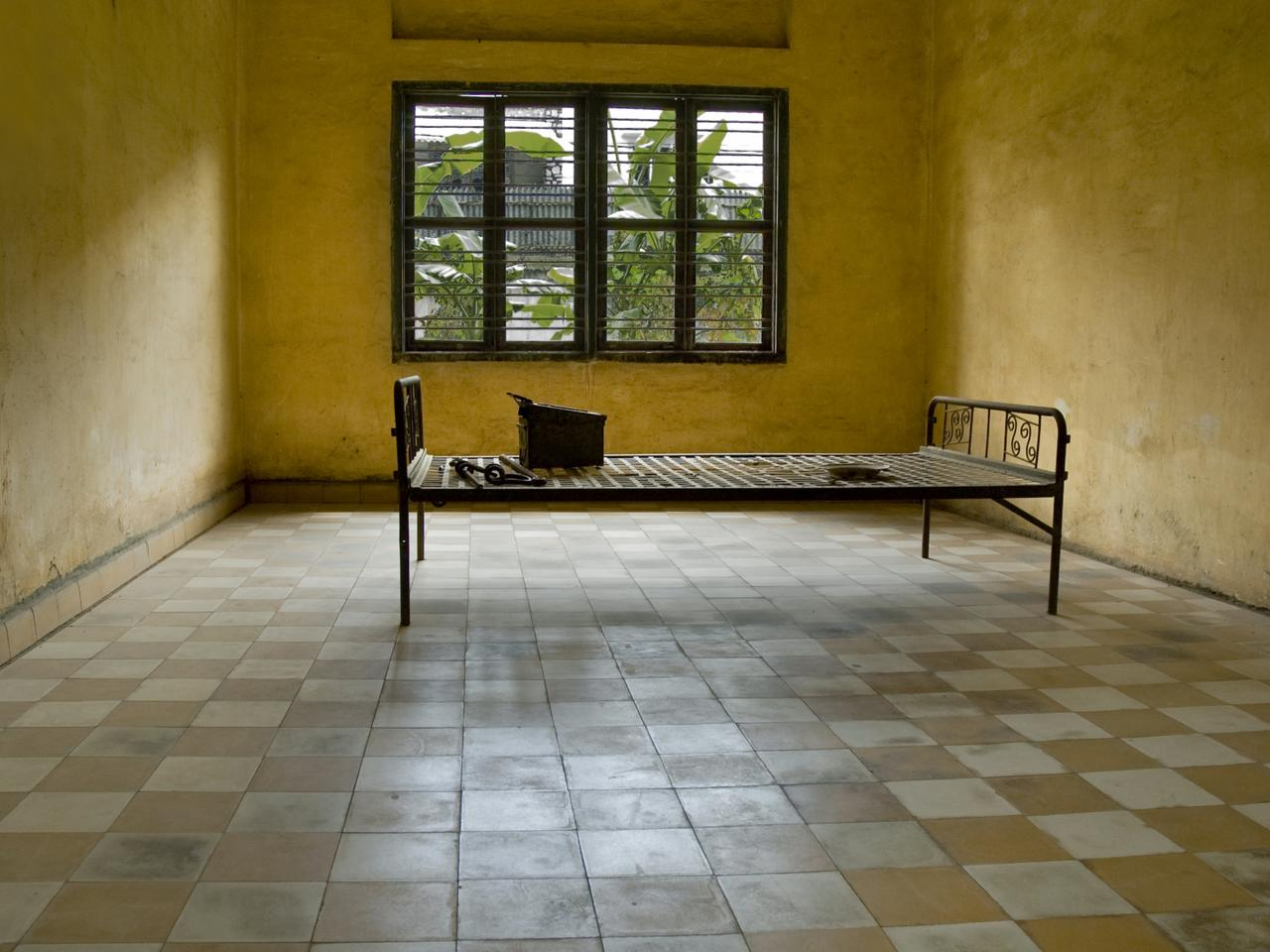 Cambodia's Tuol Sleng Genocide Museum, a former Khmer Rouge detention centre where thousands were tortured.