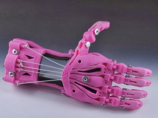 This is one of the prosthetic hands that will be 3D printed using waste plastic.